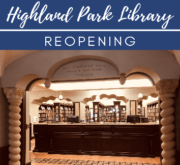 Photo of Highland Park Library Circulation Desk